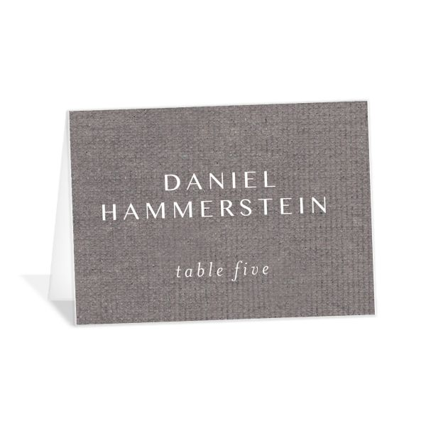 Coastal Love place cards in grey