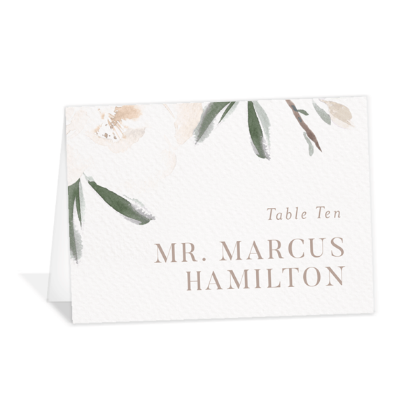 Elegant Garden wedding place cards in green