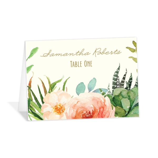 Elegant Oasis wedding place cards & escort cards