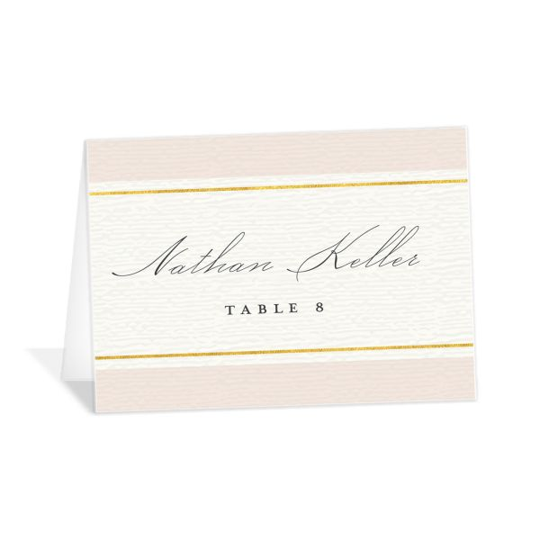 elegant paradise place cards in pink