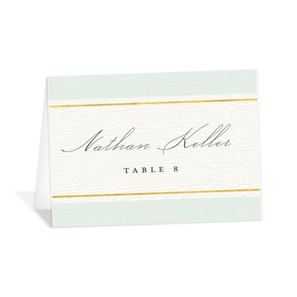 elegant paradise place cards in teal