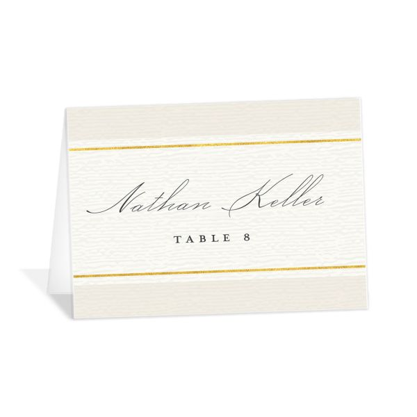 elegant paradise place cards in cream