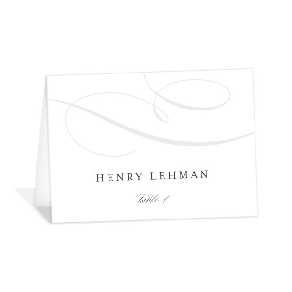 elegantly initialed wedding place cards