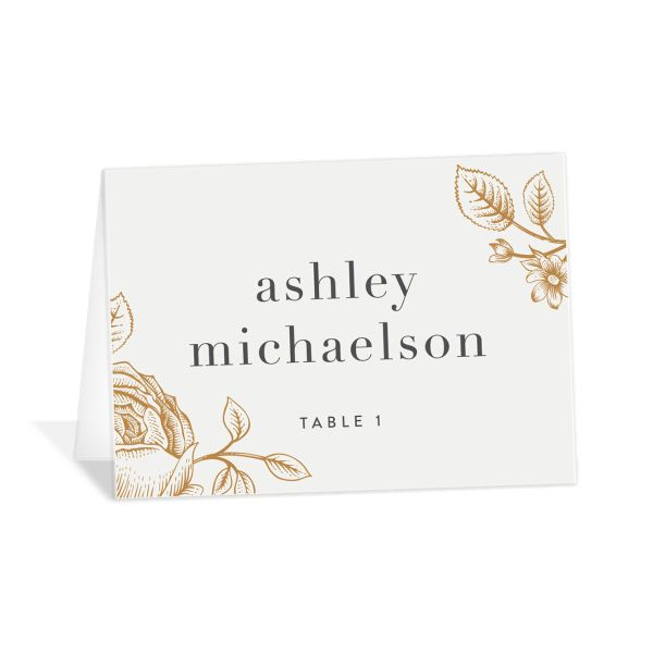 etched botanical place cards