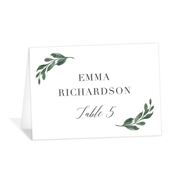 Floral Hoop Place Cards