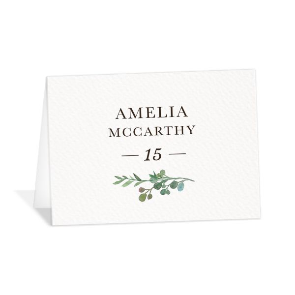 Leafy Hoops wedding place cards