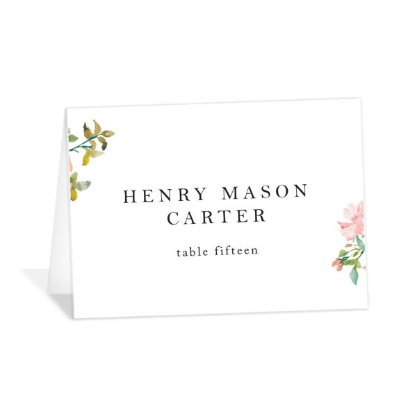 Minimal Floral place cards