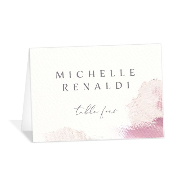 Minimal Brush place card pink