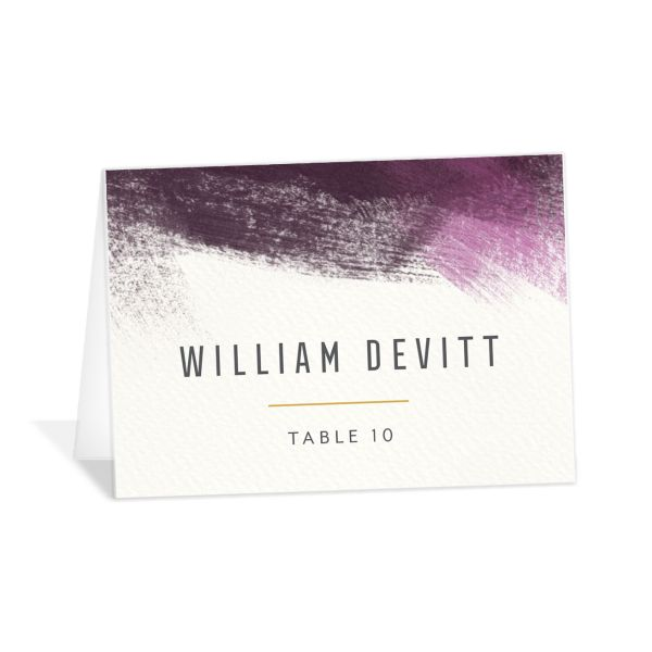 Modern Brushstroke place card