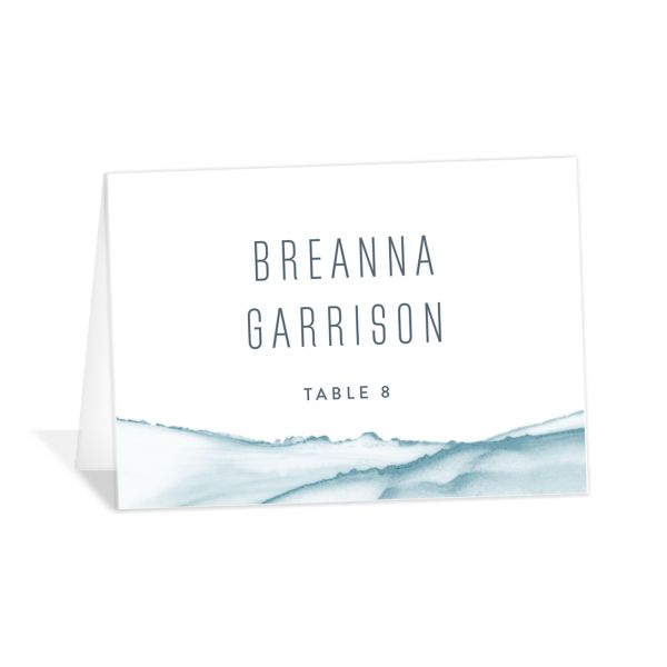 modern wave wedding place cards