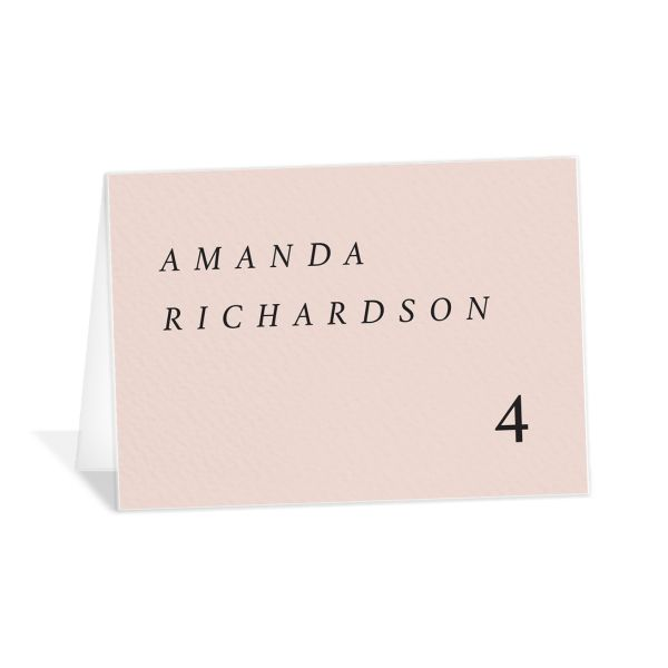 Natural Palette place cards & escort cards pink closeup