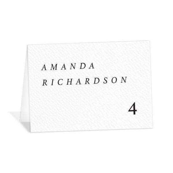 Natural Palette place cards & escort cards white closeup