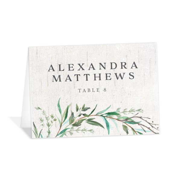 Natural Laurel place card