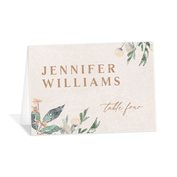Rustic Vines place card