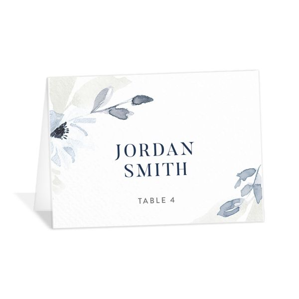Shades of Blue Place Cards
