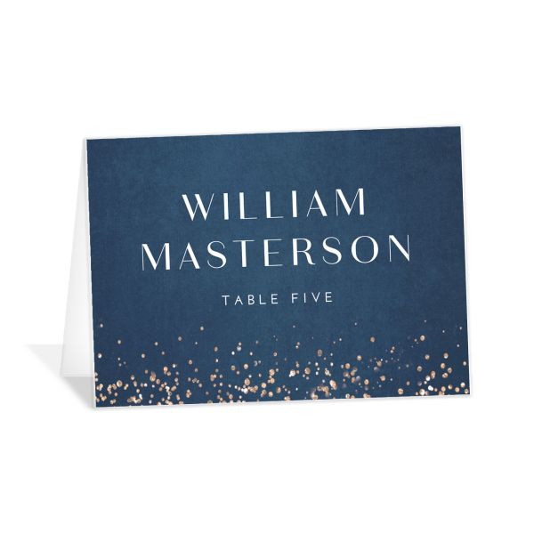 Sparkling Romance place card blue