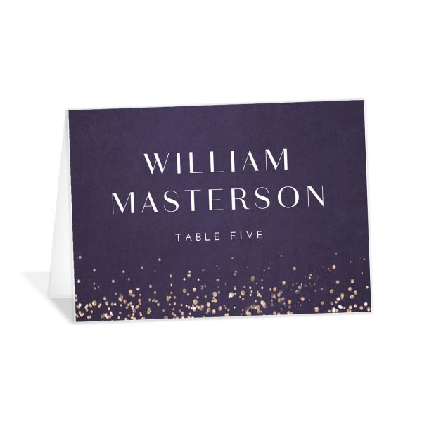 Sparkling Romance place card purple