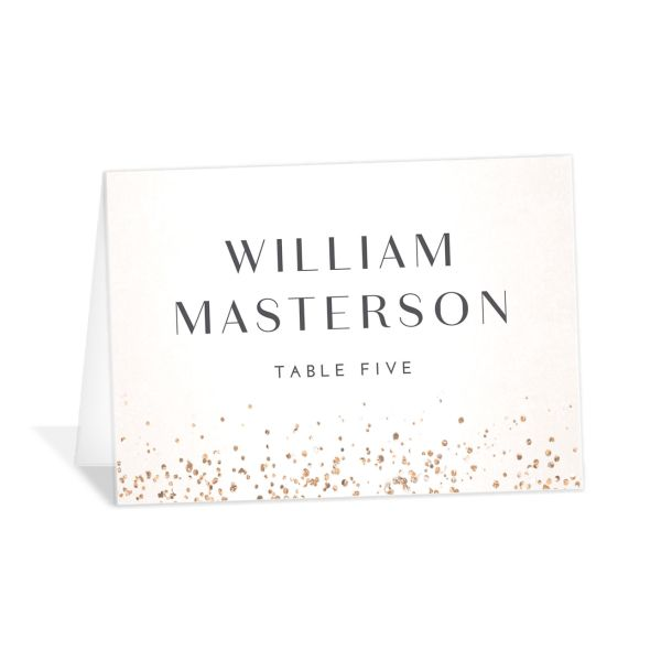 Sparkling Romance place card cream