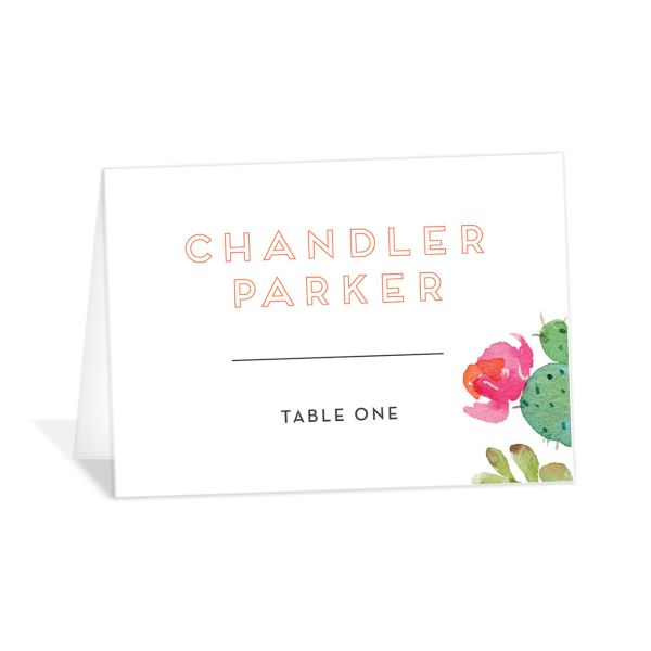 Watercolor Cactus Place card