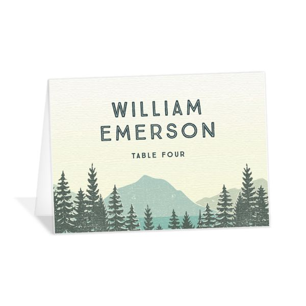 Vintage Mountain place card front