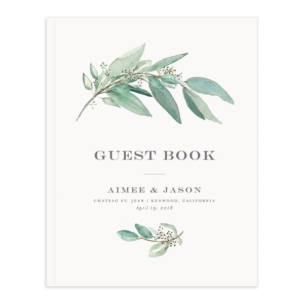 Lush Greenery Wedding guest book