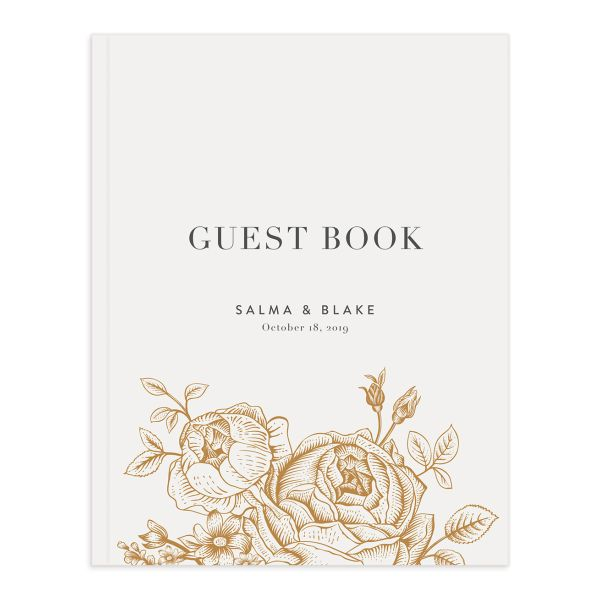 etched botanical guest books