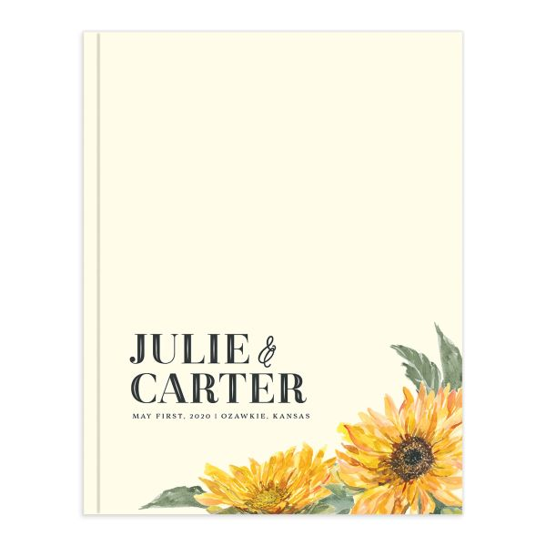 sunflower wedding guest book