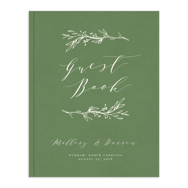 rustic elegance wedding guest book