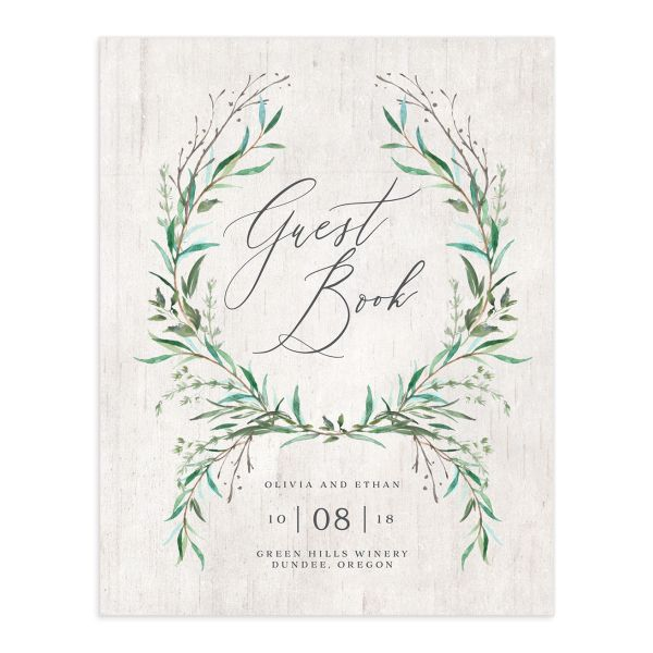 Natural Laurel guest book