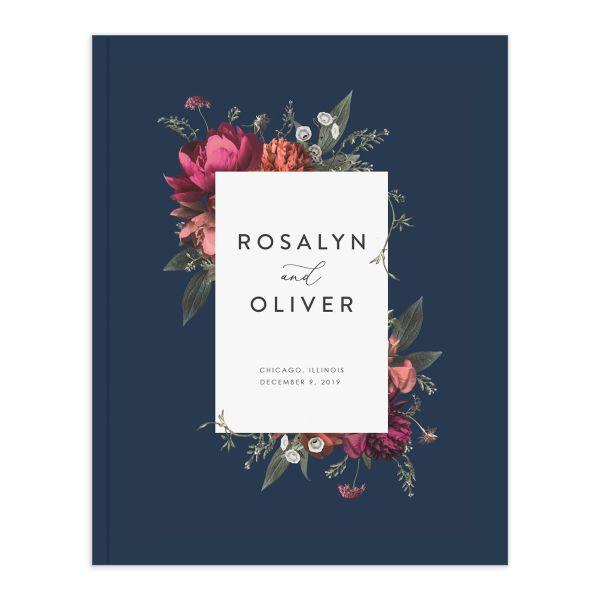 Blooming Botanical Wedding Guest Book