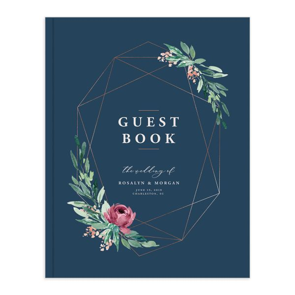 Gilded Botanical guest book