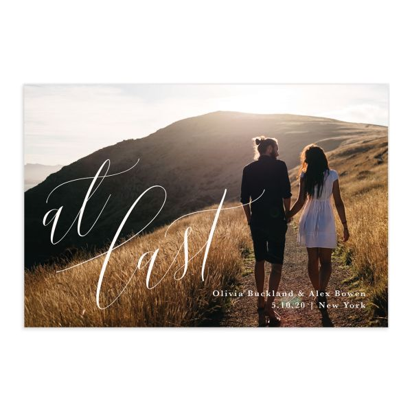 At Last Wedding Announcement Postcards Front