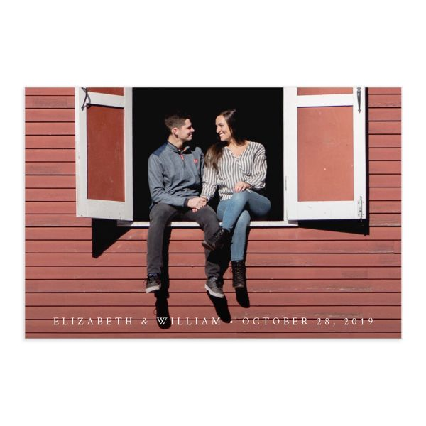 Painted Winery save the date postcard