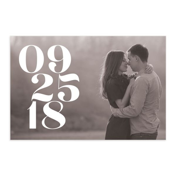 modern luxe save the date postcards in green