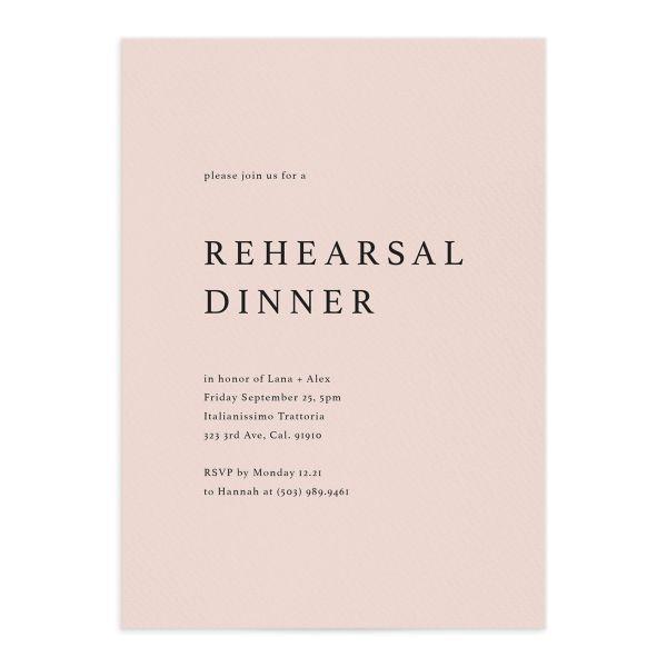 Natural Palette Rehearsal Dinner Invites