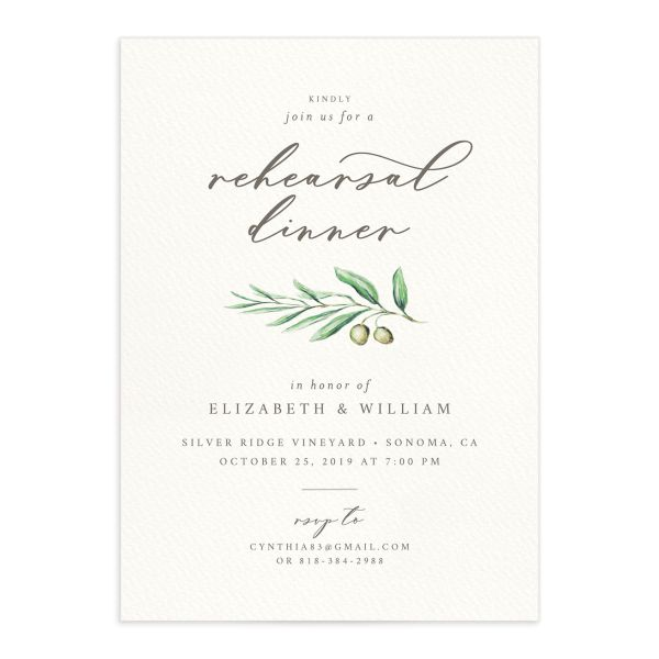 Painted Winery Rehearsal Dinner Invitations