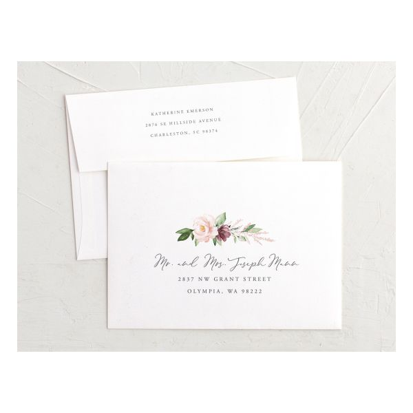 Beloved Floral Recipient Address Printing