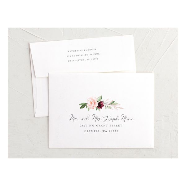 beloved floral recipient address envelopes