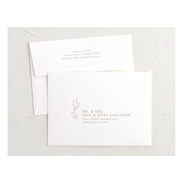 Natural Monogram recipient address printing in tan