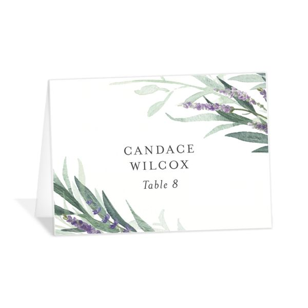 lavender sage place cards