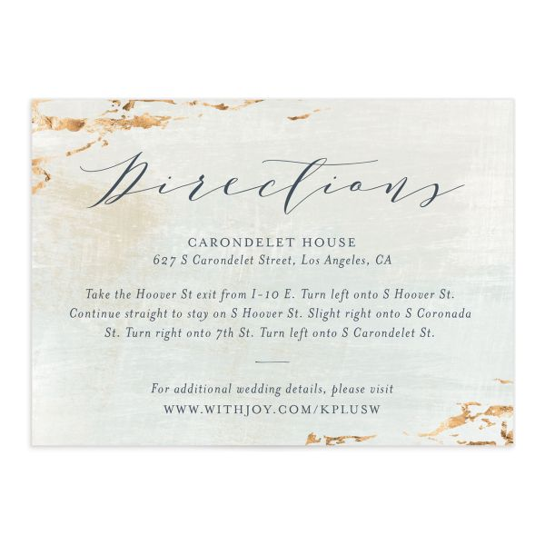 earthy organic wedding enclosure cards