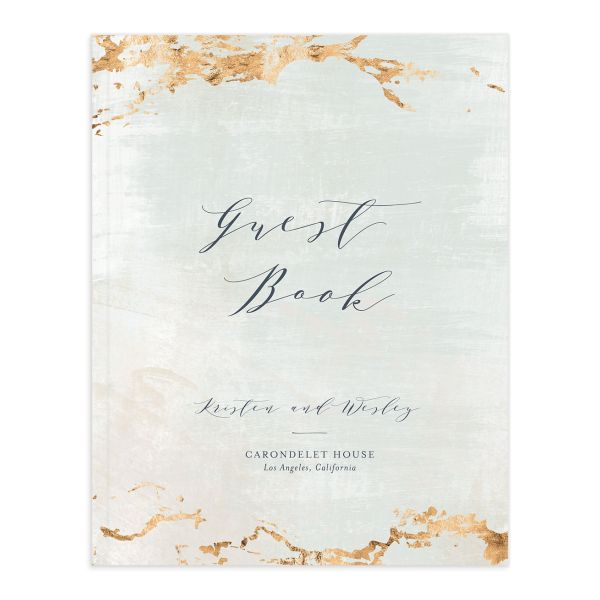 earthy organic wedding guest book