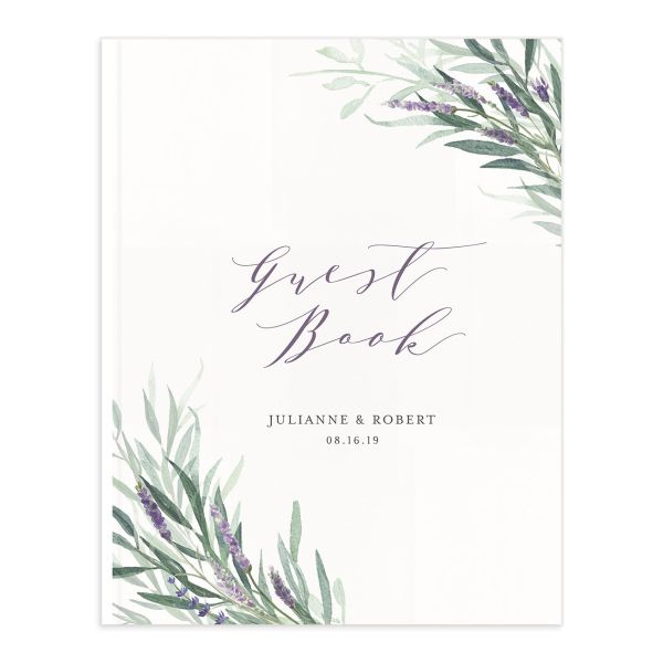 lavender sage wedding guest books