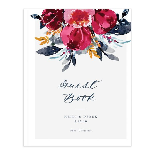 Painted Bouquet Wedding Guest Books