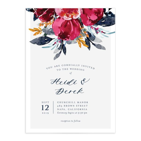 Painted Bouquet Wedding Invitations