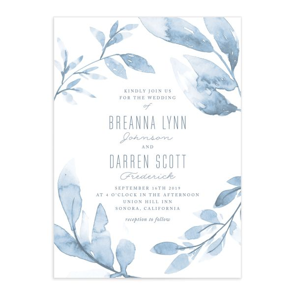 Painted Leaves wedding invitations