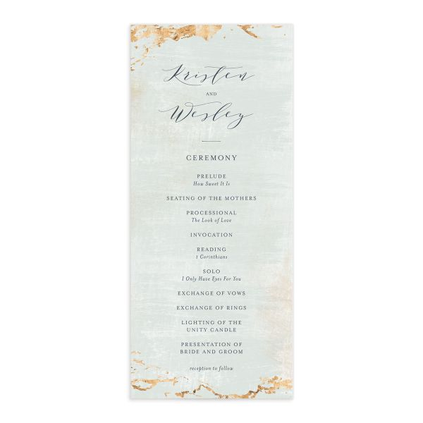 earthy organic wedding programs