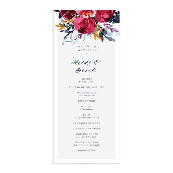 Painted Bouquet Programs
