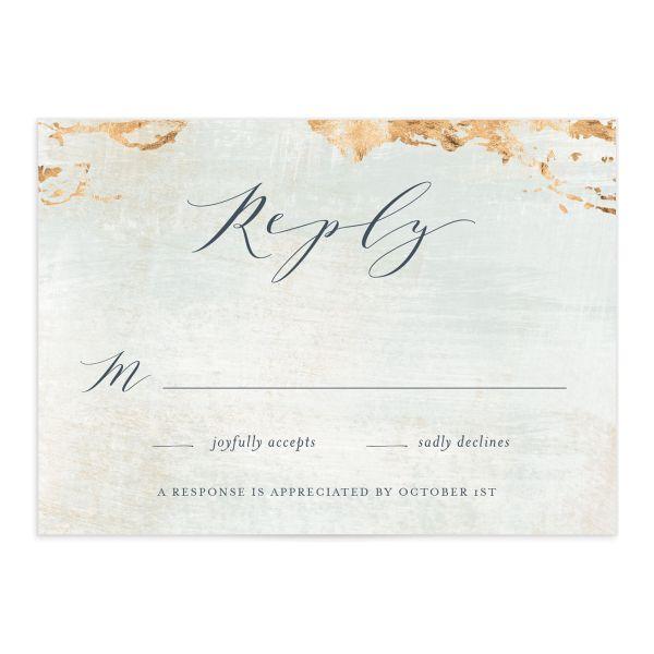 Earthy Organic Wedding Response Cards