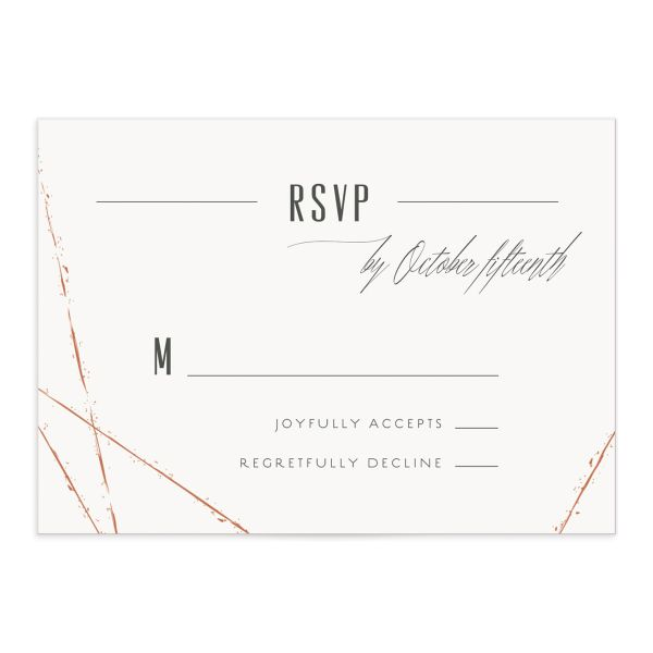 elegant industrial wedding rsvp cards
